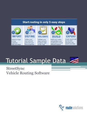 Tutorial Sample Data - Route Solutions, Inc.