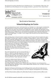 Schmetterlinge im Garten - Kreisgruppe Landshut des Bund ...