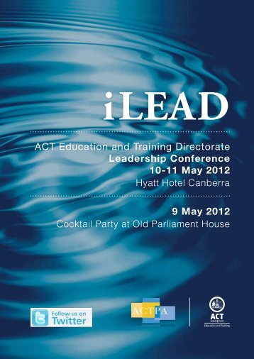 9 May 2012 - Education and Training Directorate - ACT Government