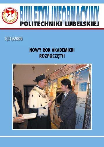 Biuletyn Informacyjny PL 1(21) 2009 - Politechnika Lubelska
