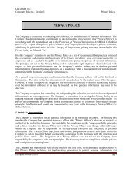 Privacy Policy - CB Gold Inc.