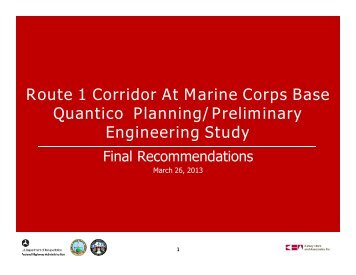 Route 1 Corridor At Marine Corps Base Quantico Planning ...