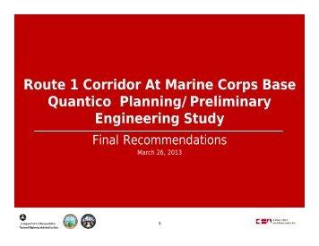 Route 1 Corridor At Marine Corps Base Quantico Planning ...