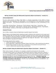 Gr K-2 Report Card Rubric Memo 11.2011.pdf - City School District ...