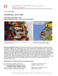 Press Release - American Federation of Arts