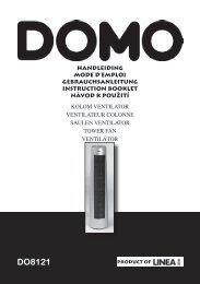 Handleiding Domo DO8121 kolomventilator - Shopvoor gezondheid