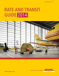 DHL Express Rate and Transit Guide 2013