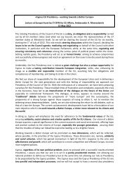 1 «Cyprus EU Presidency – working towards a Better Europe ...