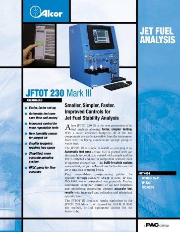 Jet fuel AnAlySIS Jftot 230 Mark III - sicamedicion.com.mx