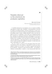 Trabalho informal: os fios (in)visíveis da produção ... - Revista Outubro