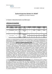 Epidemiologisches Bulletin Nr. 09/2007