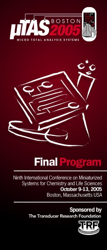 Final Program Brochure - MicroTAS Conferences