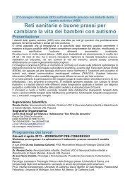 2°Convegno Nazionale Autismo - Sinpia
