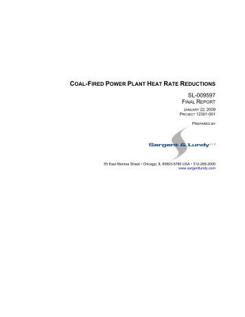 Coal-Fired Power Plant Heat Rate Reductions - US Environmental ...