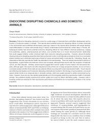 endocrine disrupting chemicals and domestic animals - Slovenian ...