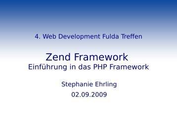 Zend Framework - webdevFulda