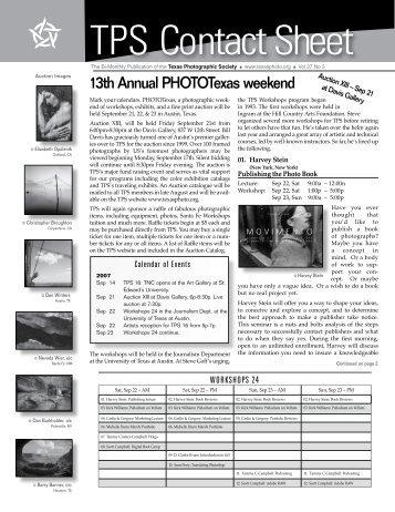 TPS Contact Sheet - Texas Photographic Society