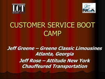 CUSTOMER SERVICE BOOT CAMP - National Limousine Association