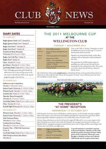 October - The Wellington Club