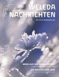 Weleda Nachrichten 240 Weihnachten 2006