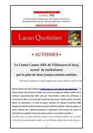 LQ 192 - Lacan Quotidien