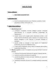 01. ghid de studiu BIOCHIMIE DESCRIPTIVA sectia romana ... - UMF