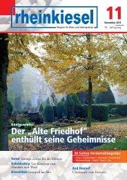 """Der """"Alte Friedhof"""" enthüllt seine Geheimnisse Der ... - Rheinkiesel"""
