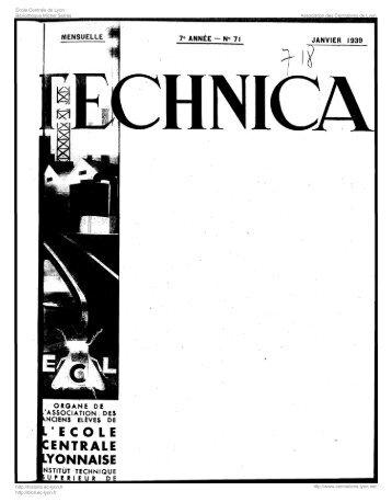 Revue Technica, année 1939, numéro 71 - Histoire de l'École ...
