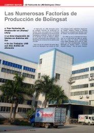 Las Numerosas Factorías de Producción de Boiingsat