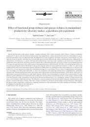 Effect of functional group richness and species richness in ...