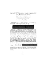 Appendix to Endogenous market segmentation and the ... - S-WoPEc