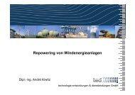 Repowering von Windenergieanlagen - wab.biz