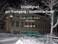 Gunilla Schött.pdf - Institutet för Kvalitetsutveckling, SIQ