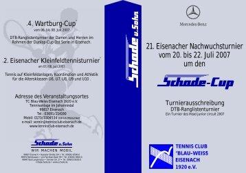 21. Eisenacher Nachwuchsturnier vom 20. bis 22. Juli 2007 um den