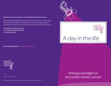 A day in the life (SM37) - Breast Cancer Care