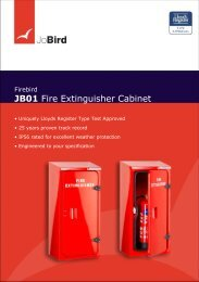 JB01 Fire Extinguisher Cabinet - Jo Bird