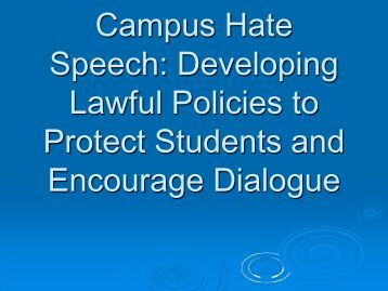 Hate Speech and Hate Crime
