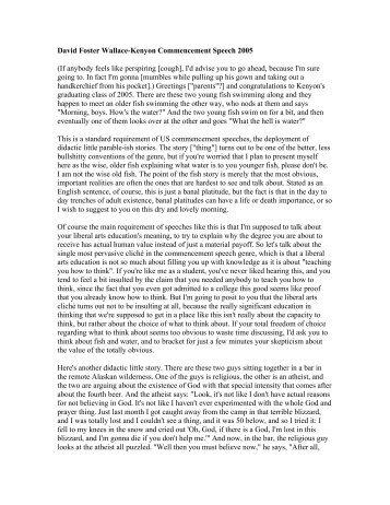 wallace kafka essay 17072008 f kafka, everyman zadie smith july 17, 2008 issue the tremendous world i have inside my head: franz kafka: a biographical essay by louis begley.