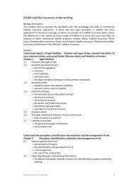DGI04 Liability Insurance Underwriting - Singapore College of ...