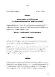 Verordnung über Umweltbeauftragte
