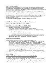 Prälat Dr. Michael Hofmann - Joseph Ratzinger Papst Benedikt XVI.