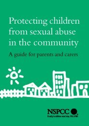 Protecting children from sexual abuse in the community