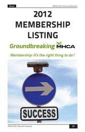 2012 membership listing - Manitoba Heavy Construction Association