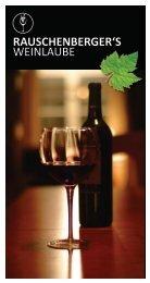 Speisekarte - Rauschenbergers Weinlaube