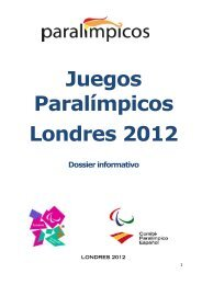 Descargar Dossier Londres 2012 - Comité Paralímpico Español