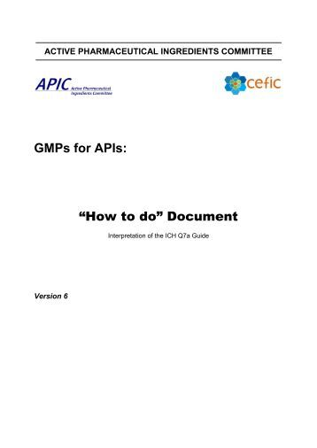 """How to do"" Document - Active Pharmaceutical Ingredients ..."