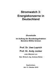 Stromwatch 3: Energiekonzerne in Deutschland - Bärbel Höhn, MdB