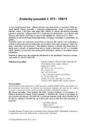 657642-posudek, 125 ex 444-11.pdf - Exekutorský úřad Český ...