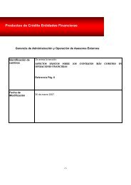 Productos de Crédito Entidades Financieras - Infonavit