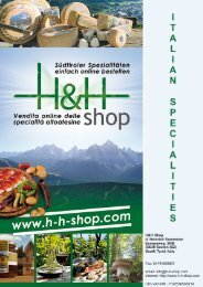 Catalogue Specialities from Italy